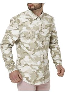 Camisa Manga Longa Masculina Bivik Camuflada - Masculino