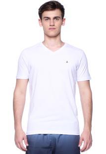 Camiseta King&Joe Manga Curta Branca