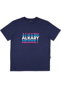 Camiseta Alkary Logotipia Azul Marinho