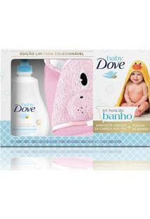 Kit Dove Baby Hidratação Enriquecida Sabonete Líquido 400Ml + Toalha De Banho Porco