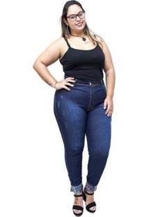 Calça Jeans Latitude Plus Size Skinny Nairany Latitude Jeans Feminina - Feminino