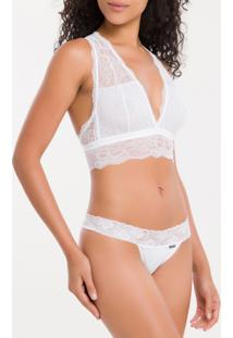 Sutia Top Triangulo Black Lamia - Branco 2 - S