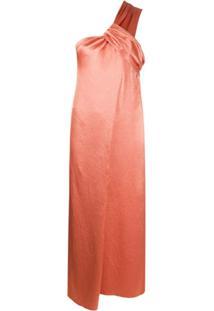 Nanushka Vestido Envelope De Cetim - Marrom