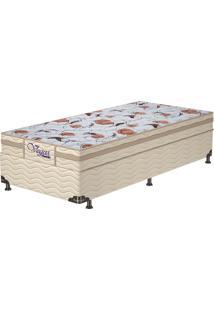 Cama Box Solteiro Vegas Mel – Probel - Mel / Palha / Marrom