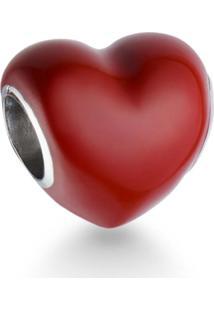 Pingente Life Coração Vermelho