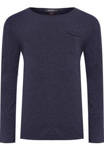 Suéter Masculino Tricot - Azul