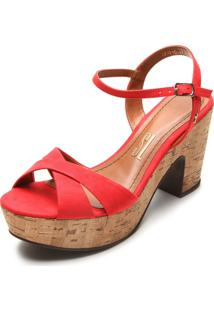 Sandália Santa Lolla Cortiça Vermelha