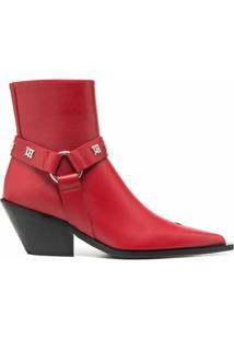 Misbhv Ankle Boot Com Alça - Vermelho
