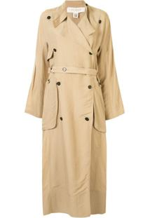 Ruban Trench Coat Com Cinto - Marrom