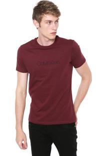 Camiseta Calvin Klein Básica Bordô