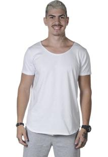 Camiseta Triztam Long Line Lotus Branca