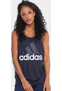 Regata Adidas Essentials Linear Lo Tank Feminina - Feminino-Marinho