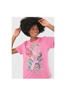 Camiseta Colcci Be Yourself Rosa