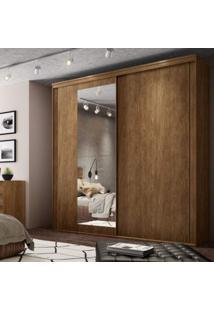 Guarda Roupa Casal Com Espelho 2 Portas 6 Gavetas 207Cm Inovatto Belmax Álamo