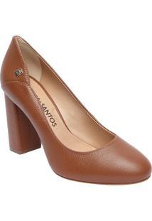 6b362e6fe2 ... Sapato Tradicional Em Couro Com Recorte Lateral- Marrom