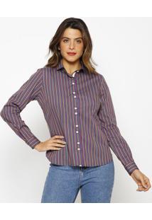 Camisa Listrada- Azul & Amarelavip Reserva