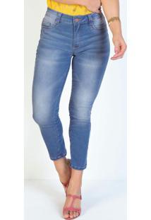 Calça Jeans Cropped Justa Sawary