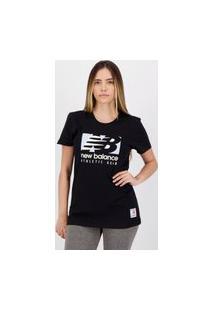 Camiseta New Balance Field Feminina Preta
