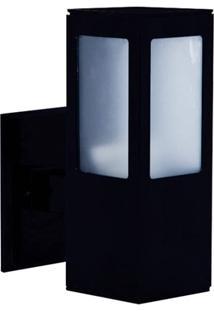 Arandela Em Alumínio Para 1 Lâmpada Com 4 Aletas Preto
