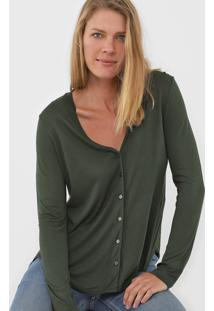 Blusa Cantão Botões Verde - Kanui