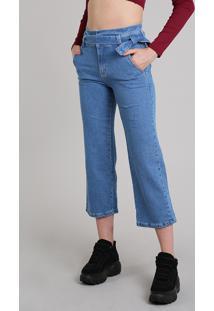 df2ac3436 R$ 129,99. CEA Calça Jeans Feminina Sawary Pantacourt Com Faixa Azul Médio