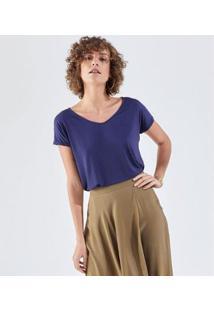 Camiseta Liz Easywear Manga Curta Feminina - Feminino-Azul Escuro