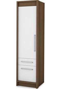 Guarda-Roupa Closet Modulado Vegas Ipê E Branco