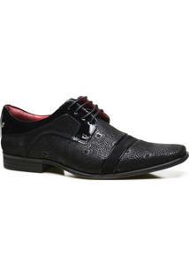 Sapato Social Couro Calvest Com Textura Vigo Masculino - Masculino-Preto