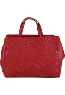 Bolsa Colcci Handbag Letras Matelassê Feminina - Feminino-Vermelho