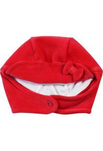 Enxoval Baby Ano Zero Touca Plush Vermelho - Kanui