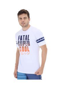 Camiseta Fatal Estampada 20405 - Masculina - Branco