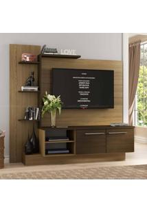 Estante Home Theater Para Tv Até 52 Polegadas 2 Portas Es110 Castanho/Nogueira - Decibal