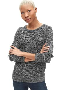 Suéter Gap Tricot Texturizado Preto/Branco