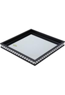Bandeja Diamond- Preta & Branca- 4X36,5X36,5Cm- Rojemac