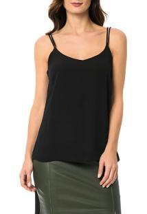 Blusa Calvin Klein Com Alças Preto - M