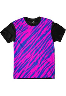 Camiseta Bsc Zebra Stripes Sublimada Preto/Roxo