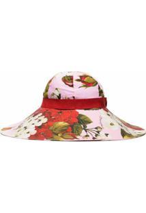Dolce & Gabbana Chapéu Com Estampa Floral - Rosa