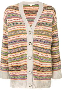 Stella Mccartney Cardigan Com Padronagem Listrada - Estampado