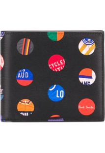 Paul Smith Carteira 'Cycle Dots' De Couro - Preto