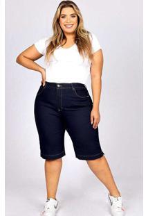Bermuda Lisa Almaria Plus Size Fact Jeans Azul