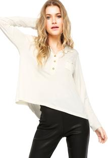 Camisa Manga Longa Fiveblu Bolso Off-White