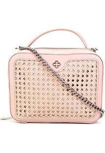 Bolsa Couro Capodarte Mini Bag Atanado Feminina - Feminino-Rosa