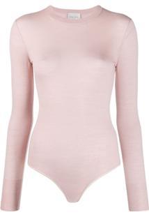 Forte Forte Fine-Knit Bodysuit - Rosa