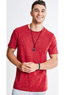 Camiseta Eco Rajado Vermelha