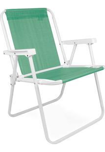 Cadeira De Praia Alta Aço Anis Mor 002287