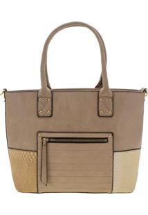 Bolsa Feminina Arara Dourada - T291 Bege
