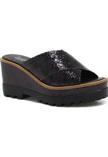 Sandália Plataforma Zariff Shoes Glitter