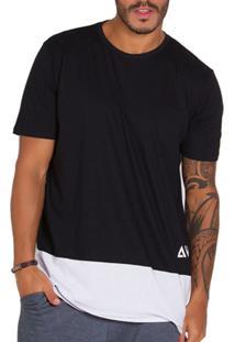 Camiseta Diário Íntimo Masculina Style Preto E Branco