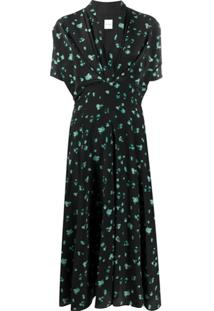 Paul Smith Vestido Com Estampa Floral - Preto