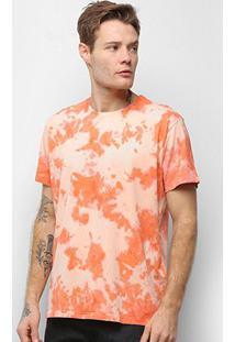 Camiseta Energia Natural Tie Dye - Unissex-Laranja